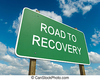 recovery - Road sign to recovery with blue sky