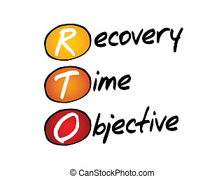 Recovery Time Objective (RTO), business concept acronym