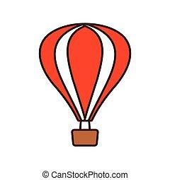 recreação, airballoon, viagem, férias, caricatura