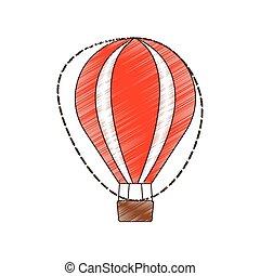 recreação, airballoon, viagem, férias, desenho