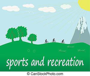 recreação, esportes