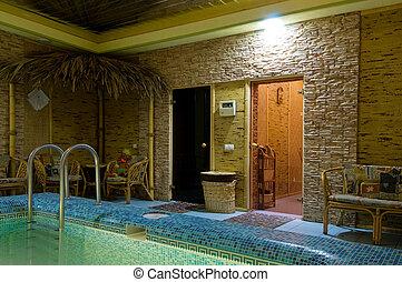 recreação, indoor, piscina