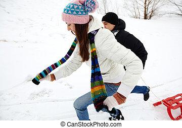 recreação, inverno