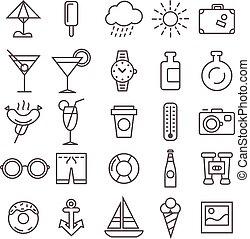 recreação, jogo, ícones