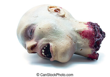 Recreaccion foam of a human head