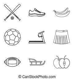 Recreate icons set, outline style - Recreate icons set. ...