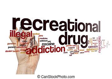 recreatieve drug, woord, wolk