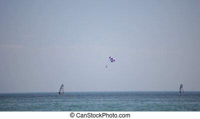 Recreation and sport at sea. Black Sea. Locked down, HD1080...