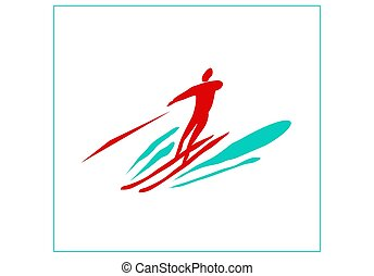 Recreation and sports on the water. High-speed water skiing.