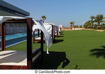 Recreation area at the luxury hotel