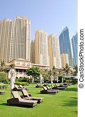 Recreation area of luxurious hotel, Dubai, UAE