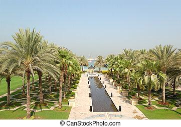 Recreation area of luxury hotel, Dubai, UAE