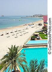 Recreation area of luxury hotel, Fujeirah, UAE
