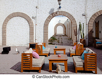 recreation area on the Moroccan street photo