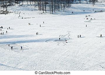 Recreation on a Frozen Lake