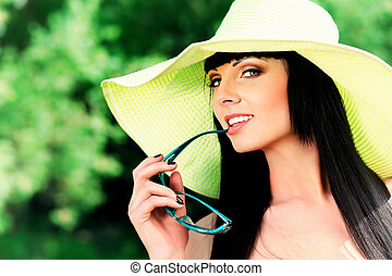 recreation - Portrait of a beautiful young woman in...
