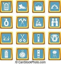 Recreation tourism icons azure