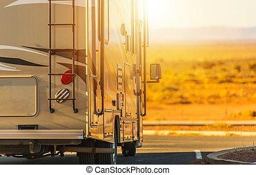 Recreation Vehicle RV Trip