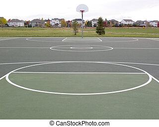 recreational basketball court - green recreational...