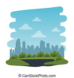 recreational park natural scene icon