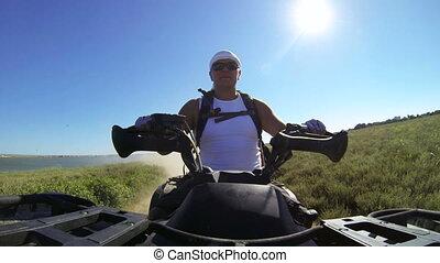 Recreational trip on ATV