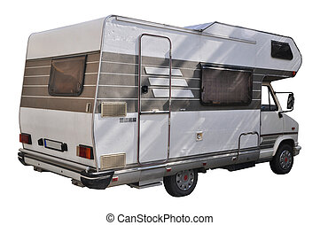 Recreational Vehicle - Recreational vehicle isolated on...