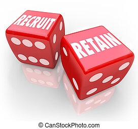 Recruit and Retain 2 Red Dice Attract Job Candidate Hire...