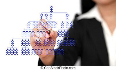 recruit new employee - Asian business woman recruit new...