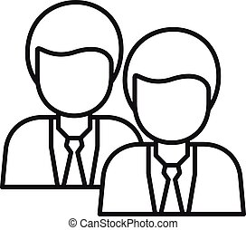 Recruit office worker icon, outline style