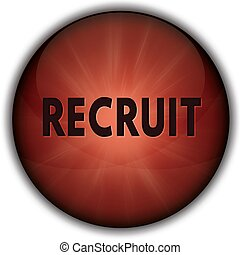 RECRUIT red button badge.