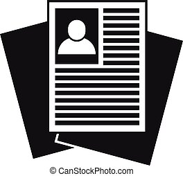 Recruiter paper documents icon. Simple illustration of recruiter paper documents vector icon for web design isolated on white background