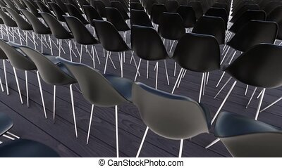 recruiting., handlowy, opróżniać, chairs.