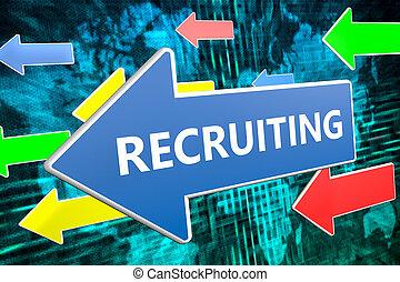Recruiting text concept