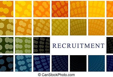 Recruitment Abstract Background Illustration