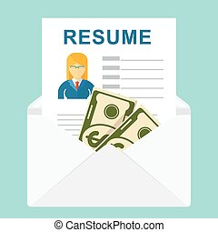recruitment bribe for employment - Resume vector....