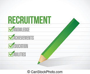 recruitment check list illustration design