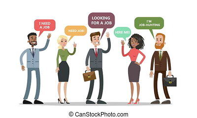 Recruitment concept animation. Picking up the best candidate.