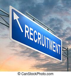 Recruitment concept. - Illustration depicting an illuminated...