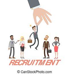 Recruitment concept illustration.