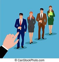 recruitment concept, interview