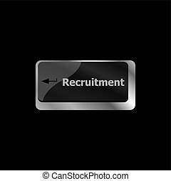 Recruitment directly button with icon in a elegant keyboard