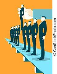 Recruitment Factory - Illustration. Choosing worker