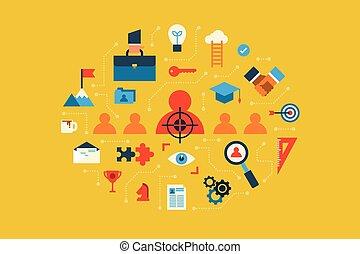 Recruitment - Illustration of recruitment flat design ...
