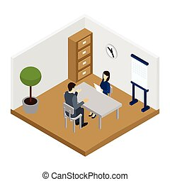 Recruitment Interview Illustration