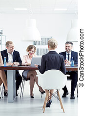 Recruitment interview in corporation