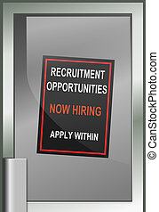 Recruitment opportunity concept.