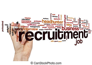 Recruitment word cloud - Recruitment concept word cloud...