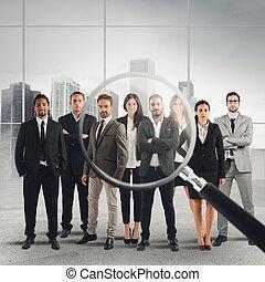 recrutamento, candidatos, selecione