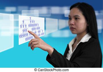 recrutamento, trabalho, conceito, procurar
