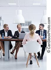 recrutement, compagnie, comité